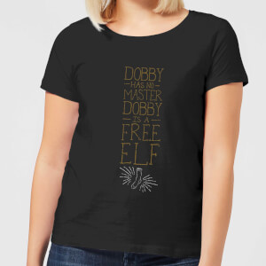 Harry Potter Dobby Is A Free Elf dames t-shirt - Zwart