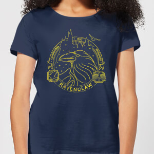 Harry Potter Ravenclaw Raven Badge Women's T-Shirt - Navy