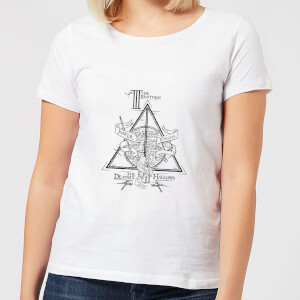 Harry Potter Three Dragons White Women's T-Shirt - White