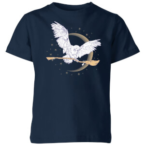 Harry Potter Hedwig Broom kinder t-shirt - Navy