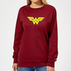 Justice League Wonder Woman Logo Women's Sweatshirt - Burgundy