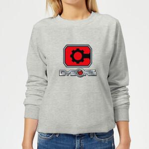 Justice League Cyborg Logo Women's Sweatshirt - Grey