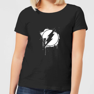 Justice League Graffiti The Flash Women's T-Shirt - Black