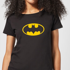 Justice League Batman Logo Women's T-Shirt - Black