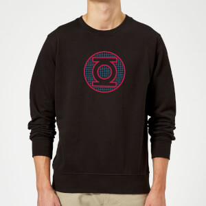 Justice League Green Lantern Retro Grid Logo Sweatshirt - Black