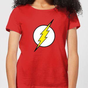 Justice League Flash Logo Women's T-Shirt - Red