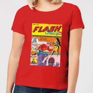 Justice League The Flash Issue One Women's T-Shirt - Red
