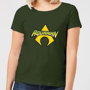 Justice League Aquaman Logo Women's T-Shirt - Forest Green