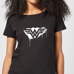 Justice League Graffiti Wonder Woman Women's T-Shirt - Black