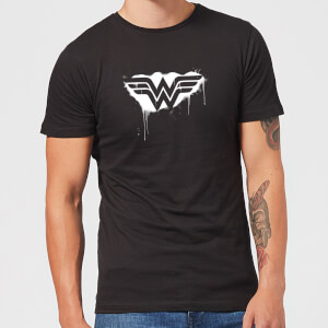 Justice League Graffiti Wonder Woman Men's T-Shirt - Black