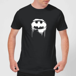 Justice League Graffiti Batman Men's T-Shirt - Black