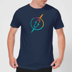 Justice League Neon Flash Men's T-Shirt - Navy