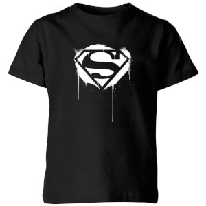 Justice League Graffiti Superman Kids' T-Shirt - Black