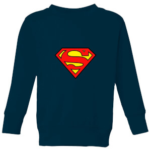 Justice League Superman Logo Kids' Sweatshirt - Navy