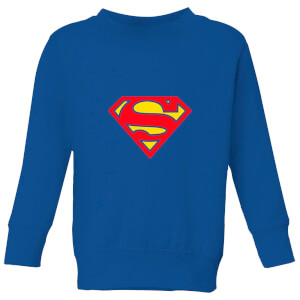 Justice League Supergirl Logo Kids' Sweatshirt - Royal Blue