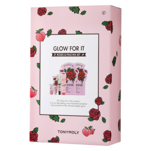 TONYMOLY Glow For It - Peaches and Roses Set