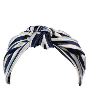 Slip Silk The Knot Headband - Navy Stripe