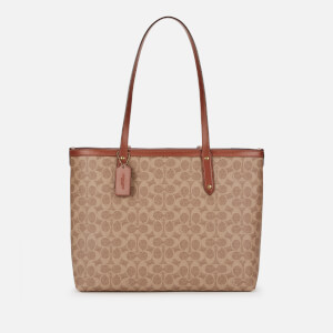 Coach Women's Central Tote Bag with Zip - Tan Rust