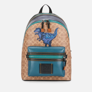 Coach Signature Dinosaur Academy Backpack with Rexy by Zhu Jing Yi - JI/Khaki