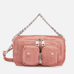 Núnoo Women's Helena Suede Chunky Chain Bag - Rose