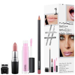 MAC Matte and Metallic Exclusive Lip Kit - Pink Lips (Worth £51.50)