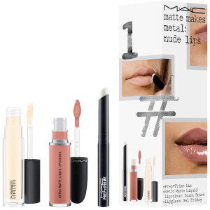 MAC Matte Makes Metal Exclusive Lip Kit - Nude Lips