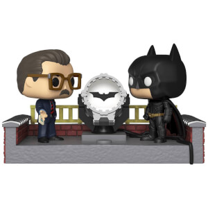 Batman with Light Up Bat Signal Funko Pop! Movie Moment