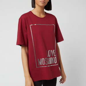 Love Moschino Women's Logo Box T-Shirt - Red