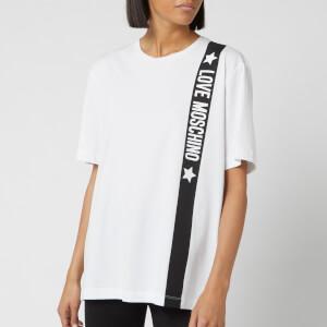 Love Moschino Women's Tape Logo T-Shirt - Optical White