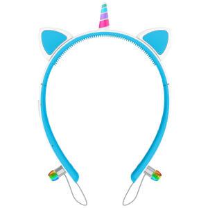 Live Love Music Light Up Unicorn LED Bluetooth Headphones - Blue