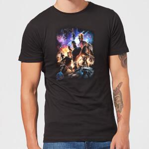 Avengers Endgame Character Montage Men's T-Shirt - Black