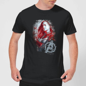 T-shirt Avengers Endgame Captain Marvel Brushed - Homme - Noir