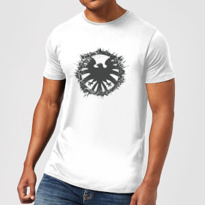 T-Shirt Marvel Avengers Agent Of SHIELD Logo Brushed - Bianco - Uomo