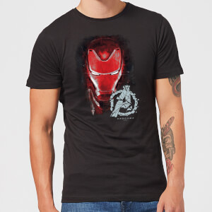 Avengers Endgame Iron Man Brushed Men's T-Shirt - Black