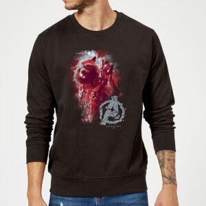Sweat-shirt Avengers Endgame Rocket Brushed Homme - Noir