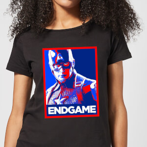 Avengers Endgame Captain America Poster Women's T-Shirt - Black