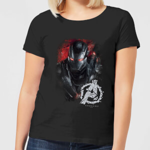 Avengers Endgame War Machine Brushed Women's T-Shirt - Black