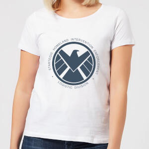 Marvel Avengers Agent Of SHIELD Logistics Division Women's T-Shirt - White