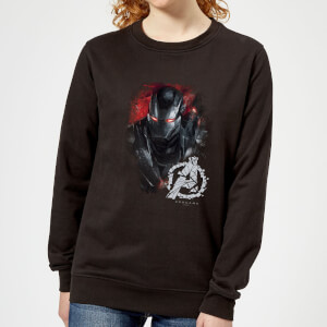 Avengers Endgame War Machine Brushed Women's Sweatshirt - Black