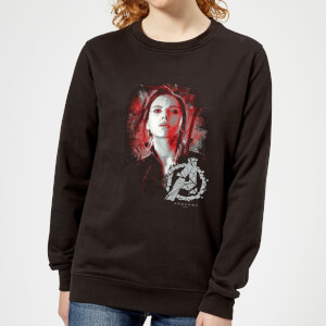 Avengers Endgame Black Widow Brushed Women's Sweatshirt - Black