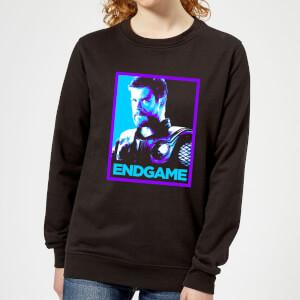 Avengers Endgame Thor Poster Women's Sweatshirt - Black