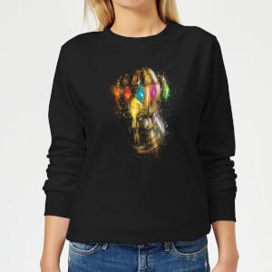 Avengers Endgame Infinity Gauntlet Warlord Women's Sweatshirt - Black