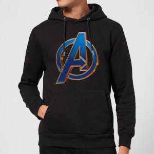 Sweat à capuche Avengers Endgame Heroic Logo Homme - Noir