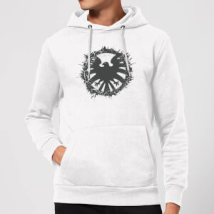 Marvel Avengers Agent Of SHIELD Logo Brushed Hoodie - White