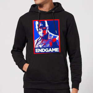 Avengers Endgame Captain America Poster Hoodie - Black