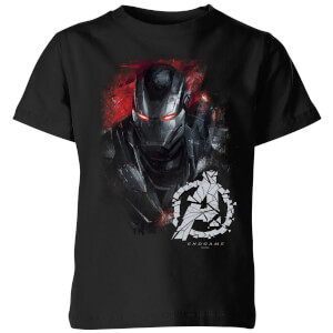 Avengers Endgame War Machine Brushed Kids' T-Shirt - Black