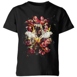 Avengers Endgame Distressed Thanos Kids' T-Shirt - Black