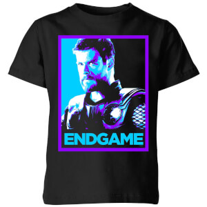 T-Shirt Avengers Endgame Thor Poster - Nero - Bambini