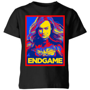 Avengers Endgame Captain Marvel Poster Kids' T-Shirt - Black