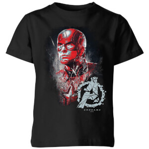 T-shirt Avengers Endgame Captain America Brushed - Enfant - Noir
